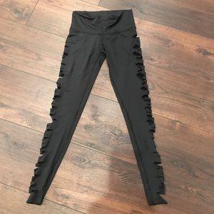 Teeki Sexy Side Slit Yoga Pant Small NWOT